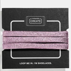 COACH metallic shoelaces